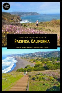 Pacifica, which means peace, has a little brown church, an old train car, and restaurants where locals foxtrot and drink Manhattans. Discover this California coastal town in San Mateo County, not far out of San Francisco. #Pacifica #PacificCoast #California #coastalliving #coast #beaches