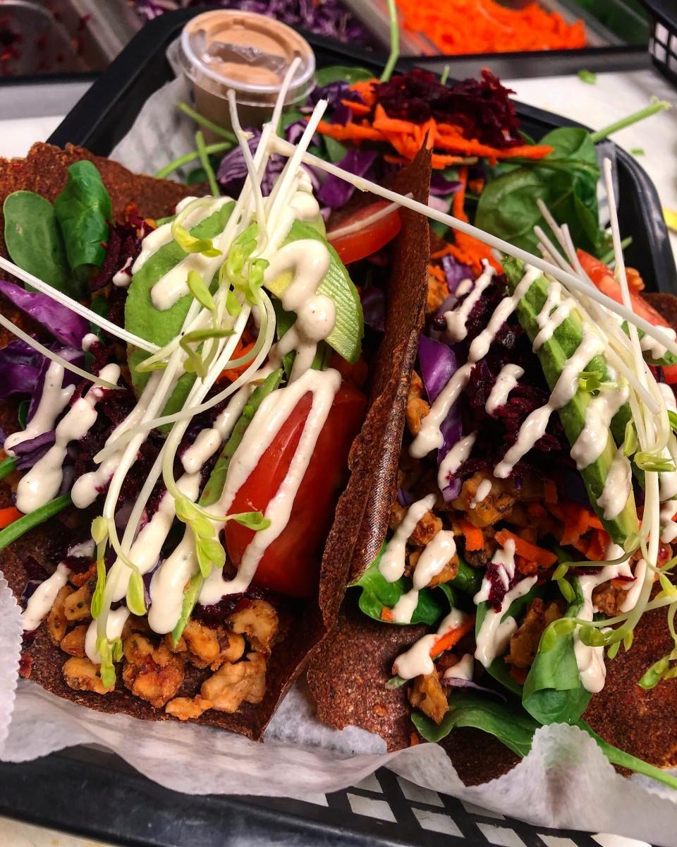 Raw Tacos Supreme. Photo courtesy 24 Carrots