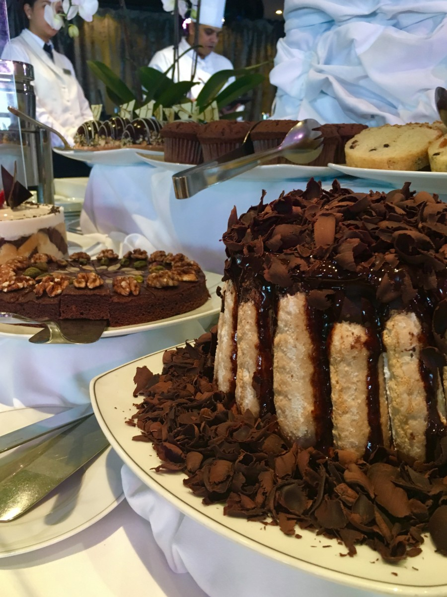 afternoon tea across Canada - Cruisers out of Canada can enjoy chocolate teatime aboard Regent Seven Seas. Photo by Catherine Parker