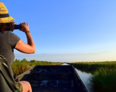 Exploring the Louisiana Bayous. Photo by Susan Lanier-Graham
