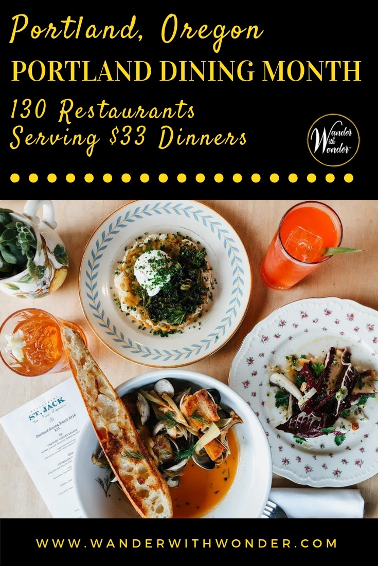 Portland Dining Month, a @travelportland initiative, returns in March. More than 130 restaurants serve up three-course dinners for just $33. #YouCanInPortland #pressrelease #Oregon #restaurants #dining