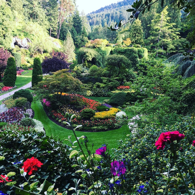 best gardens in North America -Once a cement quarry, Butchart Gardens is a National Historic Site of Canada. Photo by Catherine Parker