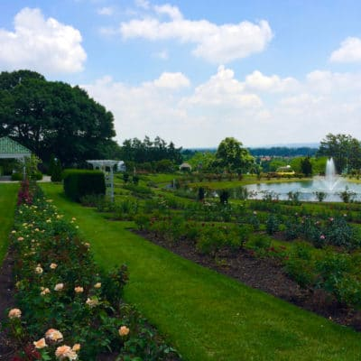 best gardens in North America - Stop and smell the roses and chocolate in Hershey, Pennsylvania. Photo by Catherine Parker