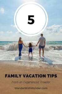 A family vacation is a perfect time to spend quality time with your loved ones, catching up with each other in a relaxed environment, trying new things, and having fun. Here are five family vacation tips from a seasoned traveler. #Family #Travel #FamilyTravel #Vacation #VacationTips #TravelTips
