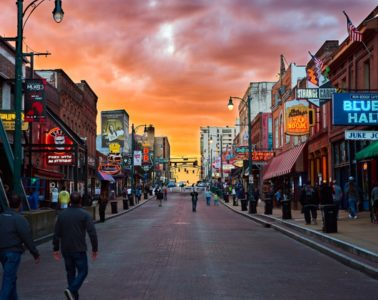 sunset on Beale Street
