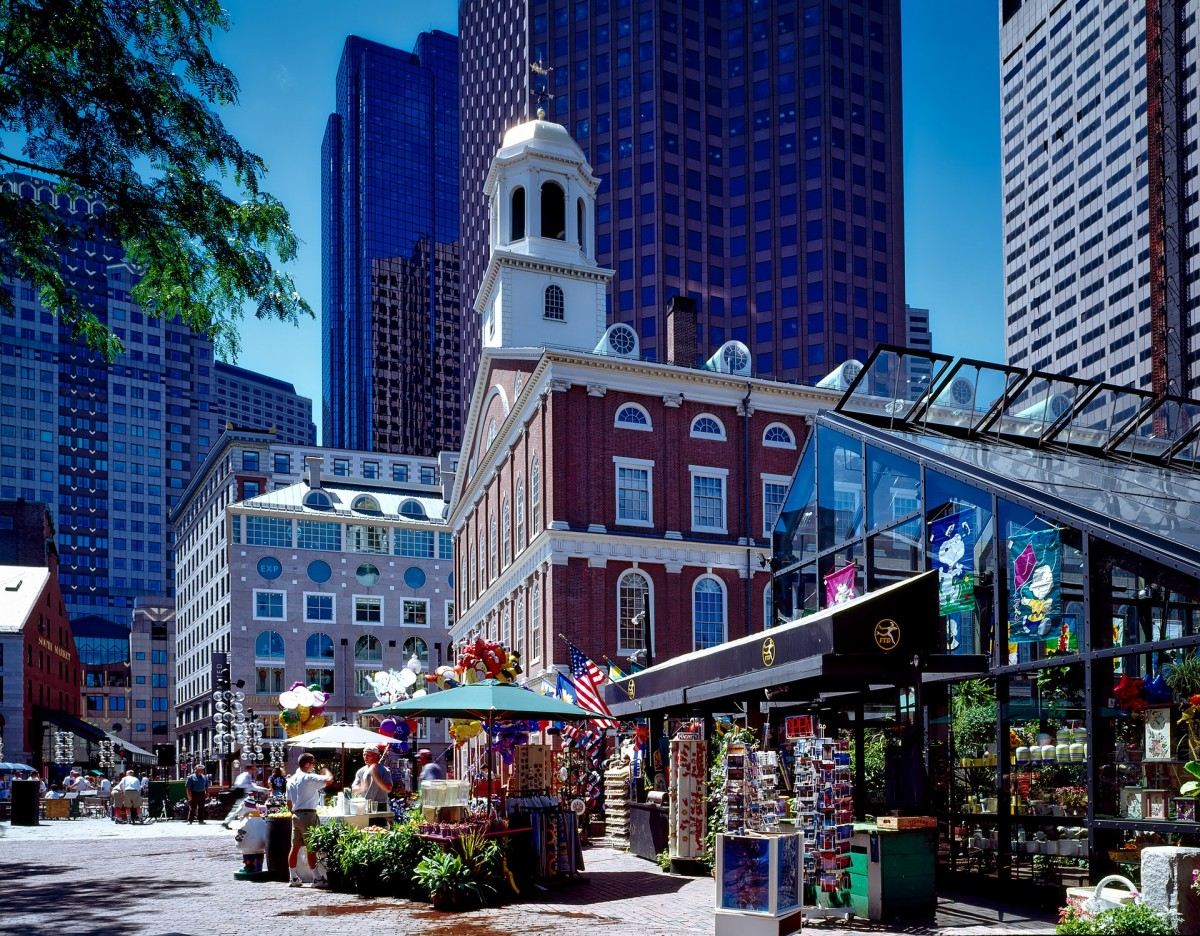 Explore Boston - Faneuil Hall in Boston. Photo by David Mark from Pixabay