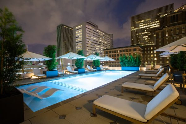Rooftop pool at Houston's Hotel Alessandra. Photo courtesy Valencia Hotel Group