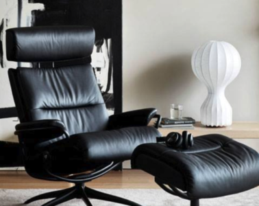 The leather Stressless recliner offers ultimate relaxation and comfort. Photo courtesy Stressless