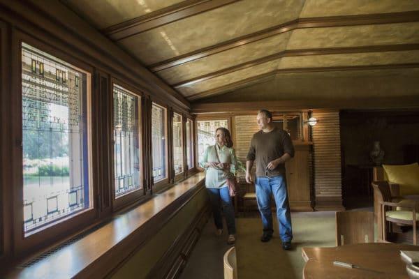 Inside the Martin House Main Residence. Photo by Rhea Anna for Visit Buffalo Niagara