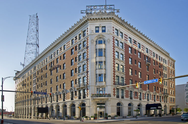 Historic Hotel Lafayette at Washington and Clinton streets. Photo courtesy Visit Buffalo Niagara Visitor Center