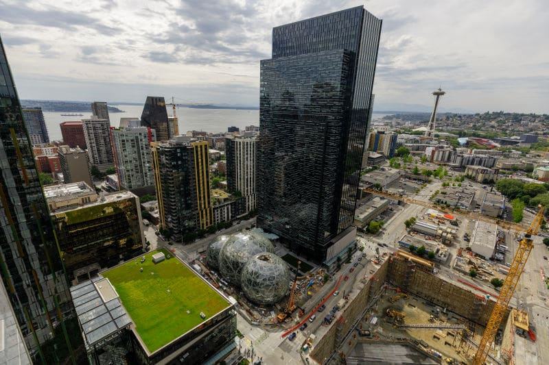Seattle Sphere is a 4-minute walk from the hotel. Photo courtesy of Seattle Spheres
