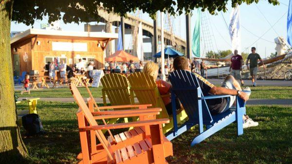 Relax at Canalside. Photo by Joe Cascio for Visit Buffalo Niagara