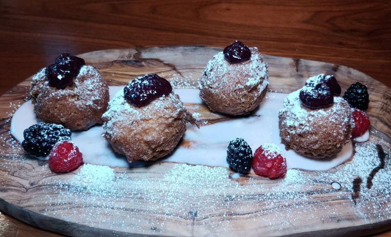 The house-made doughnuts are the perfect ending to your meal at Miller's Guild in Seattle. Photo by Lara Dunning