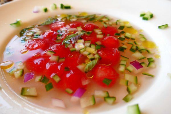 Watermelon Gazpacho at Thin Man Brewery. Photo by Susan Lanier-Graham