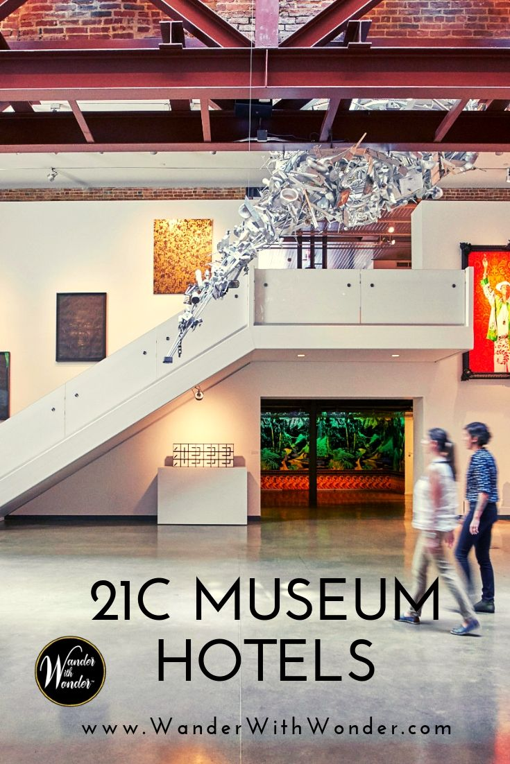 The 21c art museum hotel brand has definitely jumped into the boutique hotel scene in a big way, seamlessly blending art and luxury. Explore the art and luxury boutique stay in #Nashville, #Louisville, and Kansas City. #KansasCity #21c #arthotel #hotels #luxury