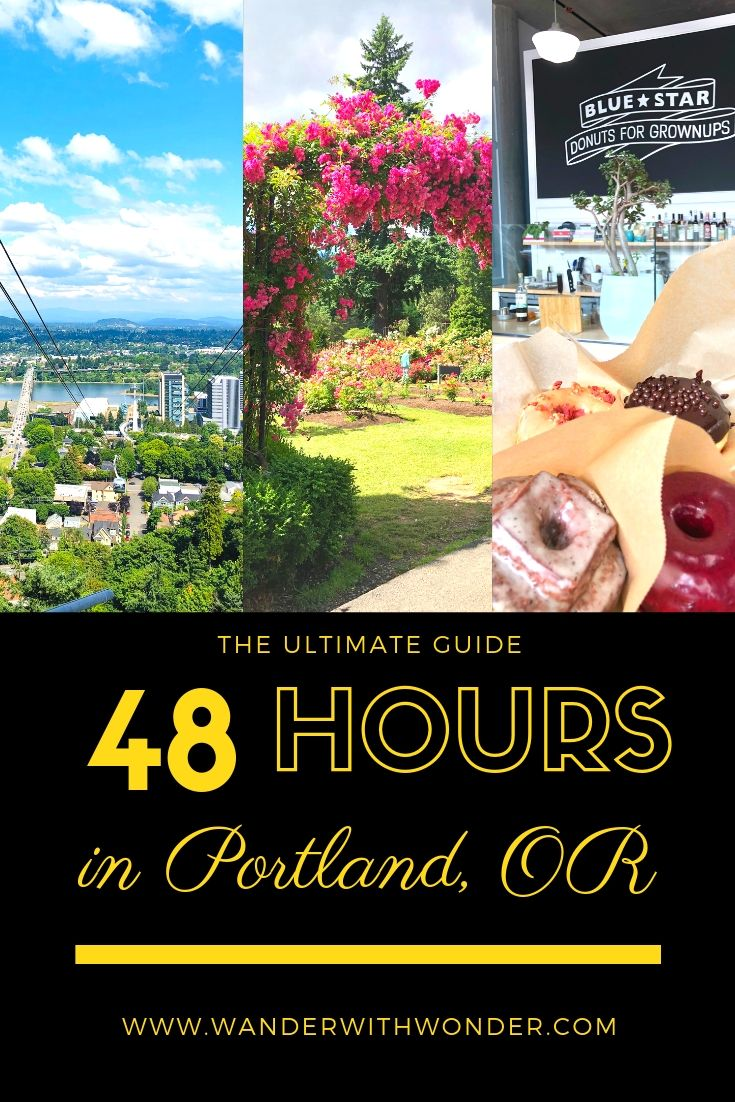 You have just two days in Portland. What to do? Come along as we discover the ultimate must-do list when you have 48 hours in Portland, Oregon. @TravelPortland #travelportland #portland #WanderPNW #PacificNorthwest #Oregon #ACHotels #youcaninportlant #rosegarden #PDX