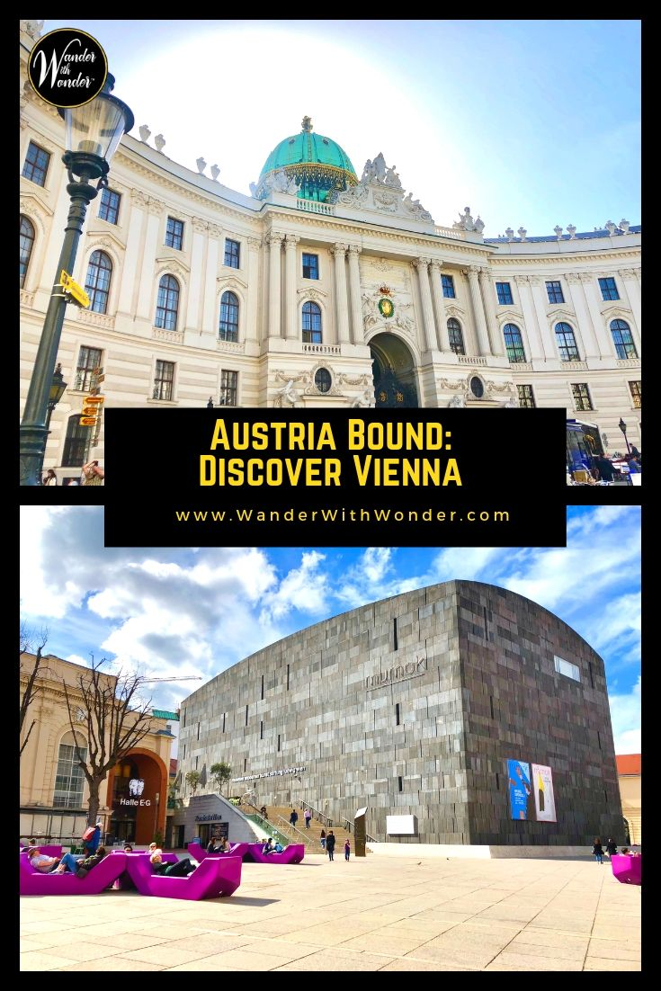 Austria\'s capital city of Vienna, Wien in German, sits almost exactly at the center of Europe. Perched along the Danube River and filled with exquisite architecture, history, and expansive green parks, it is the ideal place to begin exploring Austria. #Austria #Vienna #Wien #Travel #Europe #WanderVienna