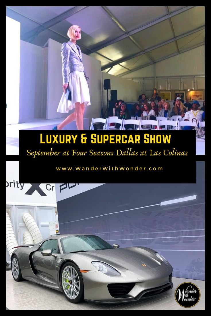 Each September, Four Seasons Resort and Club Dallas at Las Colinas buzzes with excitement. It\'s the kind of energy that comes when you hear the roar of a Maserati or watch the sleek lines of a Porsche whisk past. September 28, 2019 is time for the annual Park Place Luxury & Supercar Showcase. #Texas #DFW #luxury #luxurycars #fashion #parkplace #supercars #VisitIrvingTX #fourseasons #Dallas