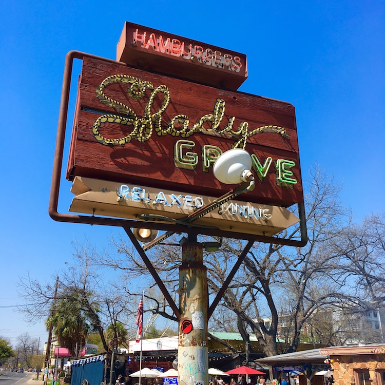 Shady Grove. Guide to 48 hours in Austin Texas