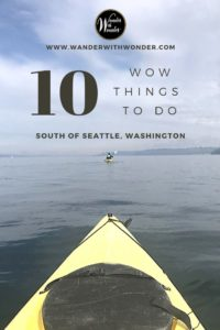 What can you do south of Seattle? With the help of the Seattle Southside Regional Tourism Authority and Travel Tacoma & Pierce County, I had a chance to check out the area's adventures and more great highlights. Here's my list of the best 10 wow things to do south of Seattle, Washington. #adventure #PacificNorthwest #PNW #Seattle #TravelTacoma