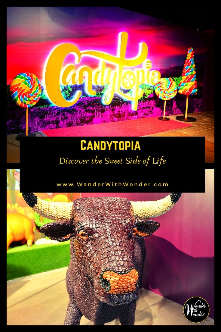 Candytopia is the art gallery Willie Wonka would have opened if he had been an artist instead of a candy maker. Filled with paintings and sculptures crafted from colorful candies, it turns adults into children and opens children's eyes to the world of art. Candytopia is more than candy art; it's an experience, and it's all about having fun. Now in Phoenix and Philadelphia and coming soon to Houston! #candytopia #familytravel #fun #candy #art #culture #artgallery
