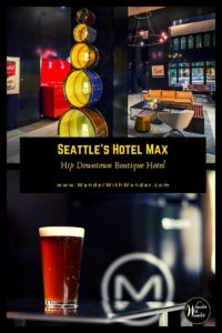 Hotel Max is one of Seattle's hippest downtown boutique hotels with trendy amenities to match. The hotel created plenty of wow moments. And, being a mere six blocks from Pike Place Market, a short walk to Link Light Rail station, and steps away from shopping, dining, and Seattle's nightlife, travelers can easily get around and be close to the beats of the city. #Seattle #Washington #PNW #PacificNorthwest #hotels #boutiquehotels #luxurytravel #trendytravel #culture