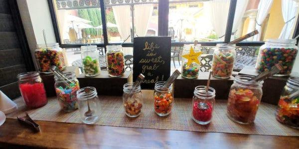 The candy bar at Hotel Valencia Santana Row.