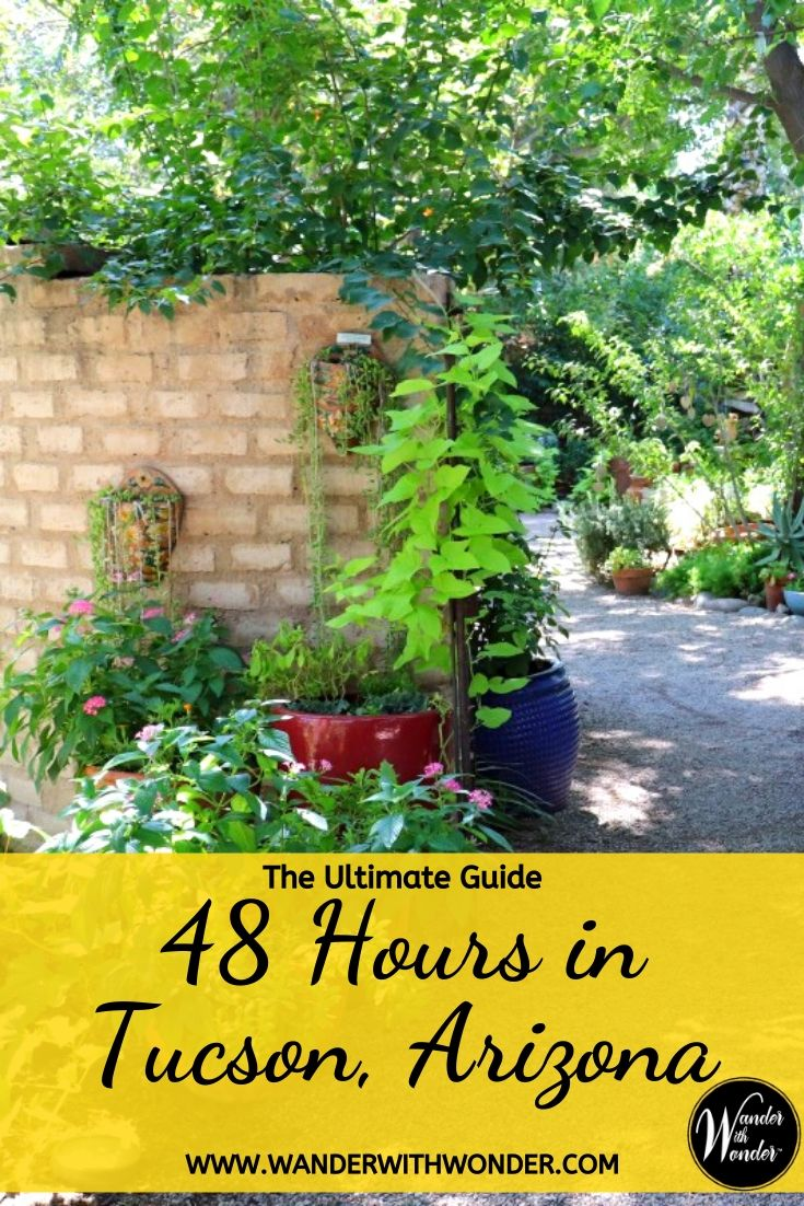 48 hours in Tucson will give you time to soak in a bit of Sonoran Desert ambiance and partake of a margarita or two. When I recently visited Tucson, I focused on the natural beauty, history, and southwestern food of the area. Here are a few suggestions when you're looking for the Ultimate Guide to 48 Hours in Tucson, Arizona. #Tucson #SonoranDesert #UltimateGuideto48Hours #visittucson #Arizona #Southwest
