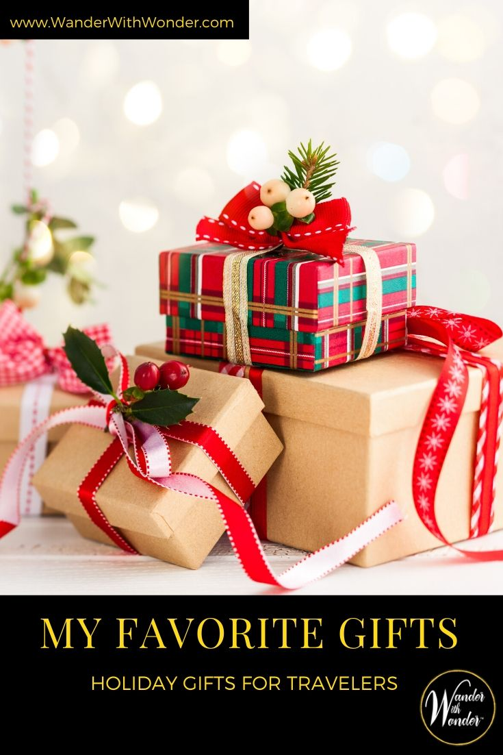 Worried about gifts for travelers this holiday season? I have suggestions for every budget. Here are some of my favorite holiday gifts for travelers. These are just in time for #BlackFriday and #CyberMonday. #gifts #holidays #holidaygifts #Christmas #presents #shopping