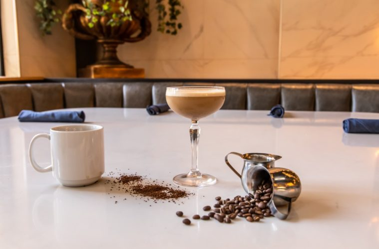 Celebrate #Christmas with 12 Christmas #cocktails. Here are my picks of #holiday cocktails. On the second day of Christmas, sip a Cold Brew Martini from Hand Cut Burgers & Chophouse in Scottsdale, AZ. Photo courtesy Riot Hospitality Group/Aaron Bowman
