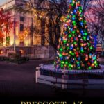 In the fragrant Ponderosa pine woods, just 2 hours north of Phoenix, is a small city full of the Christmas spirit. With the colorful lights of historic Courthouse Square, two parades with unique local units, and an amazing night of musicians in more than 100 downtown businesses entertaining revelers, Prescott has clearly earned its designation as Arizona's Christmas City. #Prescott #Arizona #Christmas #FamilyTravel #WanderfortheHolidays #Holidays