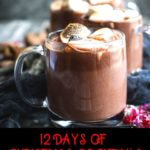 On the 11th day of Christmas Cocktails, I'm sipping something warm, chocolate, and delicious... a Red Wine Hot Chocolate thanks to this recipe from the California Wine Institute. #Christmas #cocktails #wine #CaliforniaWine #recipes #holidays