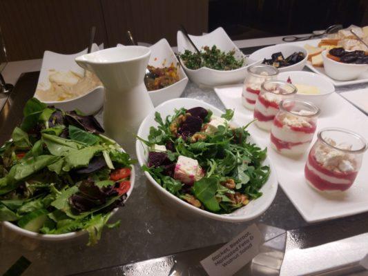 Food in Etihad Airways lounge