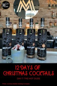 On the 7th day of Christmas, I sipped The Hot Dude, with a recipe thanks to Marble Distilling Company in Colorado. Hot cocoa, coffee, and cream. Oh my! #cocktails #holidays #recipe #Colorado #MarbleDistilling