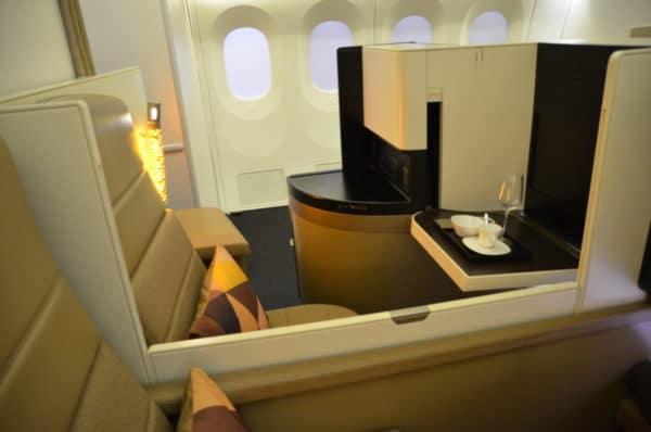 Busines class Etihad Airways