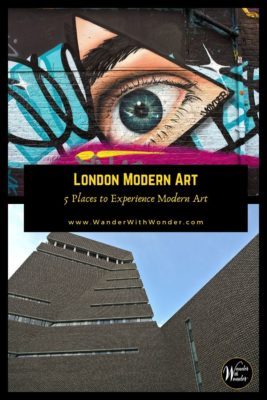 London is one of the world's important art centers. The visual and performing arts thrive in the city. Modern art lovers enjoy a dynamic scene in galleries, museums, and neighborhoods. These are five of our favorite places to experience London modern art. #London #ModernArt #Art #StreetArt #England