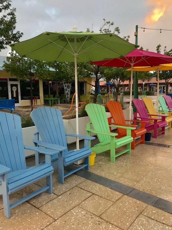 Colorful Adirondacks in the town square at Lauderdale-by-the-Sea. Photo by Penny Sadler