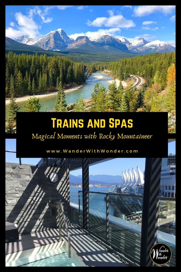 One of my favorite things about Rocky Mountaineer is combining onboard moments with excursions. Here are my favorite spa experiences, incredible magical moments thanks to Rocky Mountaineer. #sponsored #travel #rockymountaineer