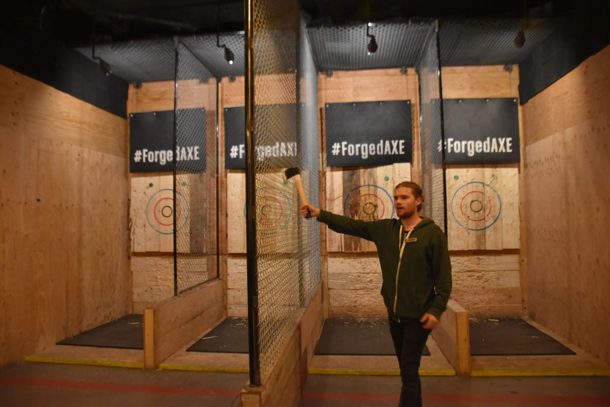 Whistler in the Off Season - Training at Forged Axe Throwing in Whistler, British Columbia.