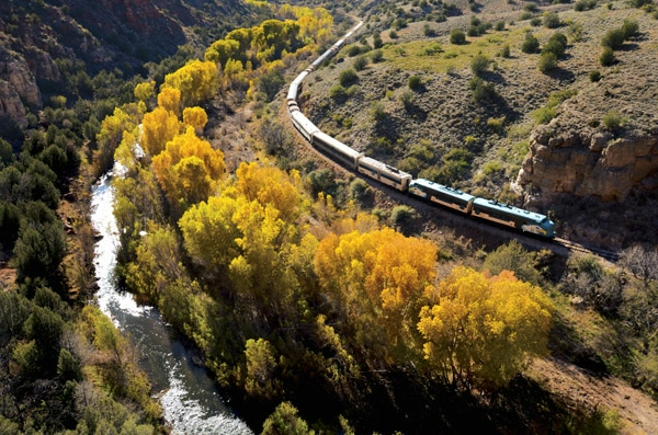 Verde Canyon RR Fall - Fall Colors in the Southwest