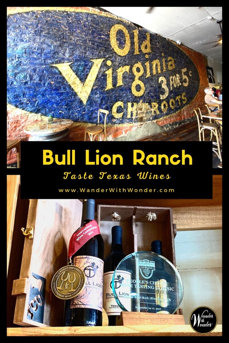If you happen to wander into the Bull Lion Ranch tasting room in Glen Rose, Texas when owner Chuck Tordiglione is in the house, have a seat at the bar and order a bottle of his award-winning Texianti wine (a play on the words Texas and chianti). Bull Lion Ranch and Vineyards is making wine from 100% Texas fruit and much of it is estate grown. Bull Lion Ranch focuses on growing Italian varietals in North Texas.