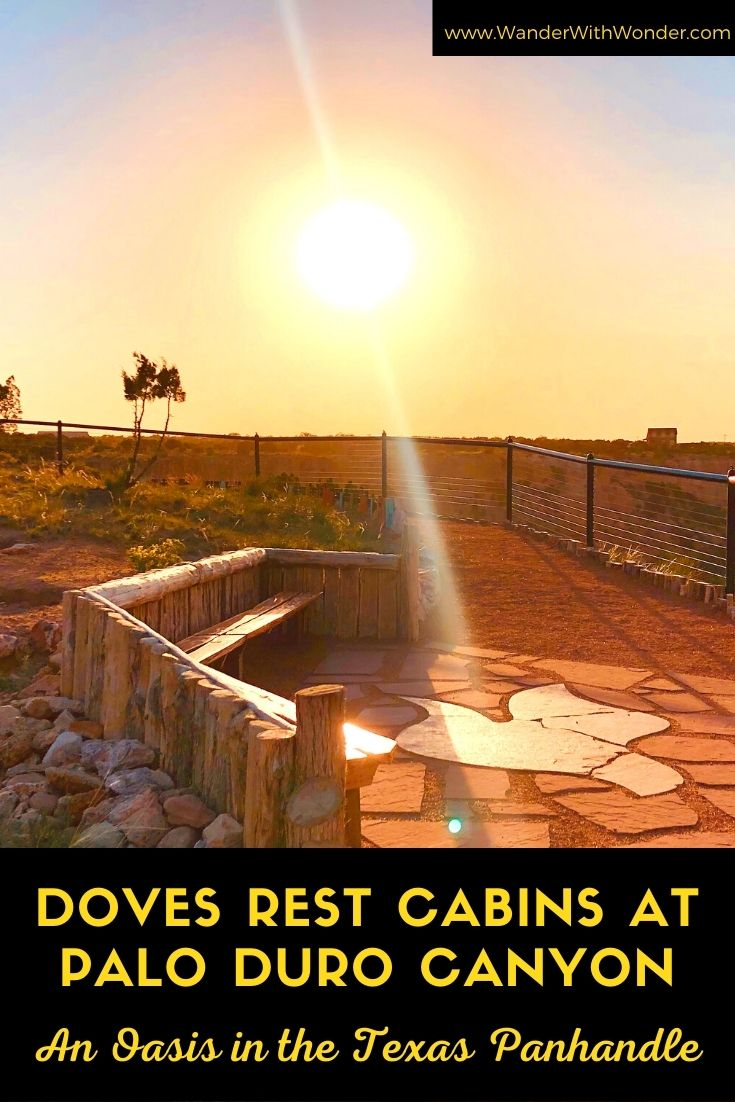 I discovered an oasis filled with wow moments in the Texas Panhandle during a visit to Doves Rest Cabins. Doves Rest sits on the rim of Palo Duro Canyon and is about 3 miles from the Palo Duro Canyon State Park. Doves Rest Cabins is ideal when you want to disconnect and reconnect. It is an ideal pet-friendly place to stay during a road trip or for a family-friendly escape to the second largest canyon in the U.S.
