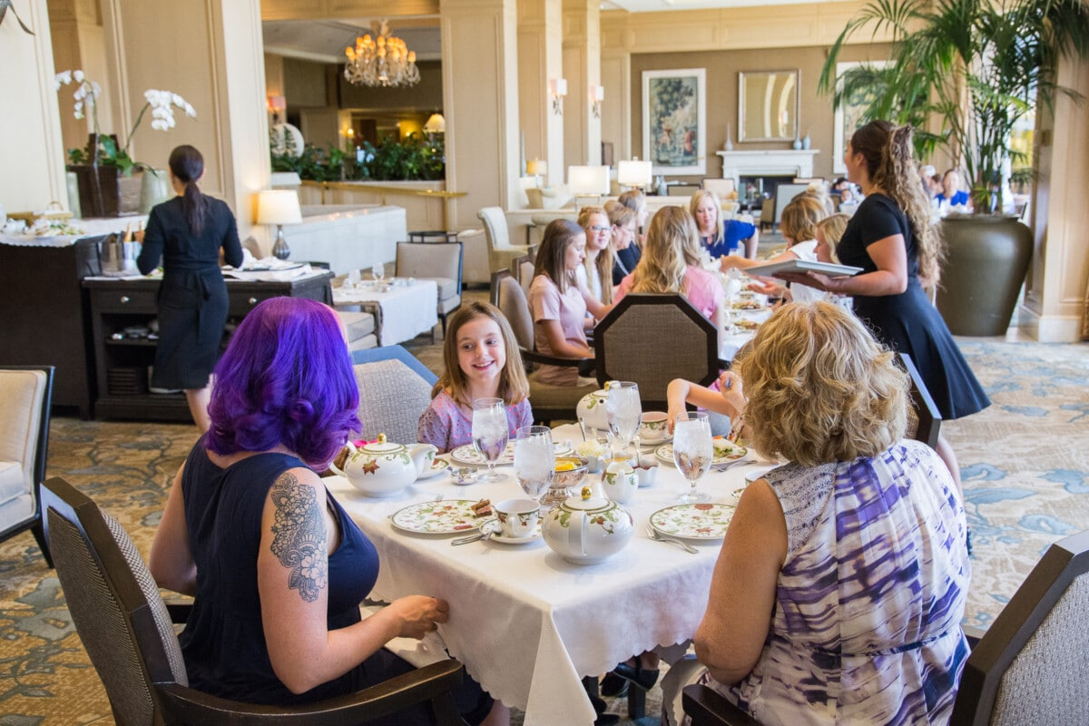 Afternoon tea at The Phoenician. Photo by Debby Wolvos