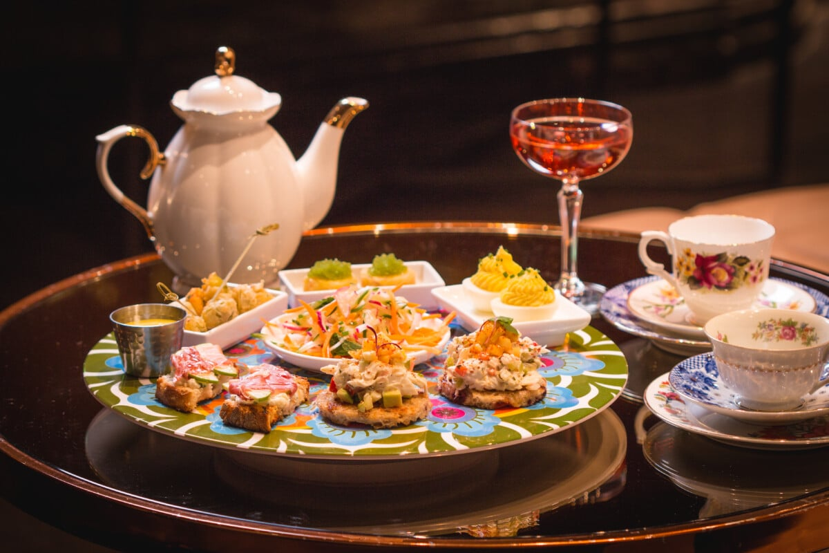 People love to get creative with afternoon tea, such as the Tipsy Tea at The Camby in Phoenix, AZ. Photo courtesy The Camby