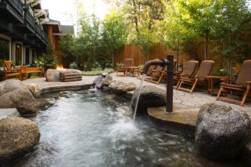 Outside spa pool